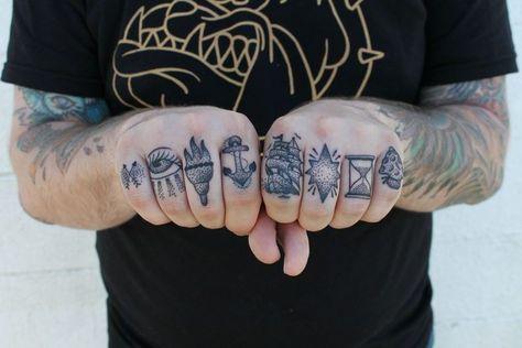 my new knuckle tattoos - Imgur
