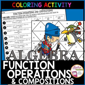Function Operations And Compositions Coloring Activity Color Activities Functions Algebra Algebra