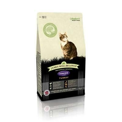Details About James Wellbeloved Dry Cat Food Turkey Rice Old Senior 4kg Meat Protein Poultry In 2020 Dry Cat Food Cat Food Poultry