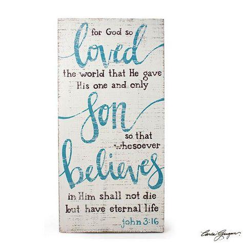 John 3:16 Bible Verse Wall Hanging 1870132