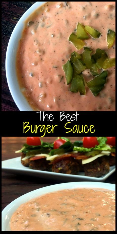 The Best Burger Sauce! We love to dip our Patty Melts (and fries) in it! The Best Burger Sauce! We love to dip our Patty Melts (and fries) in it! Best Burger Sauce, The Best Burger, Good Burger, Best Burger Patty Recipe, Burger Sauces Recipe, Smash Burger Sauce Recipe, Patty Melt Sauce Recipe, Big Mac Sauce Recipe, Burger Food