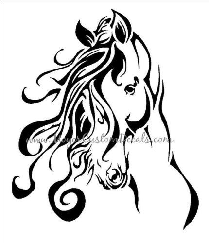 Large-Horse-Trailer-Decal-Sticker-Beautiful-Horse-Head-You-Choose-Color
