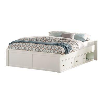 Hillsdale Furniture Pulse Queen Platform Bed With Storage In White