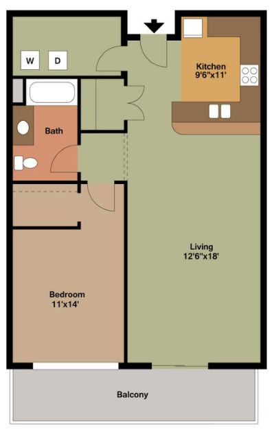 1 Bedroom Floor Plans Yahoo Search Results Bedroom Floor Plans Apartment Floor Plans Apartment Layout