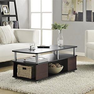 Ameriwood Home Carson Coffee Table Cherry Black Coffee Table