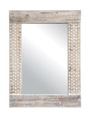 Wall Mirror W White Wash Finish Wood Mirror White Wash Walls