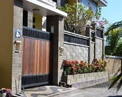 Hasil Gambar Untuk Pintu Gerbang Rumah Tertutup | Desain Eksterior, Rumah  Minimalis, Rumah