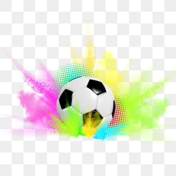Soccer Ball Competition Football Match Black Icon Champion Blue Flying Soccerball Object Gold Fun Play Holi Color Paint Soccer Ball Soccer