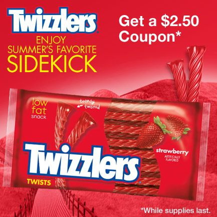 Check out this offer to get 2.50 off Twizzlers 8.1 oz. or larger at participating CVS/pharmacy locations.