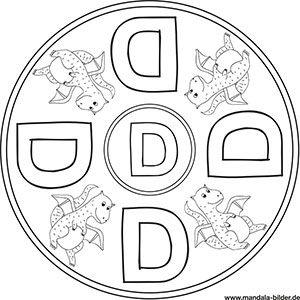 Buchstaben Mandalas Abc Ausmalbilder Zum Ausdrucken Ausmalbilder Zum Ausdrucken Buchstabe D Buchstaben
