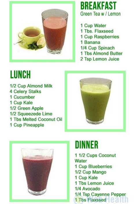 One Day; Three Smoothie Detox! #Food #Drink #Trusper #Tip