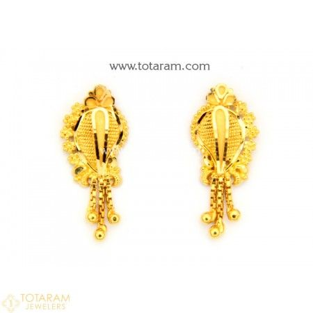 571bf0fb7 22K Gold Earrings for Women - 235-GER9069 - Buy this Latest Indian Gold  Jewelry Design in 3.500 Grams for a low price of $224.00