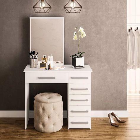 Jocelyne Dressing Vanity With Mirror In 2020 Modern Vanity Table