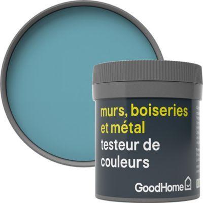 Testeur Peinture Resistante Murs Boiseries Et Metal Goodhome Bleu Nice Mat 50ml Castorama En 2020 Boiseries Frejus Castorama