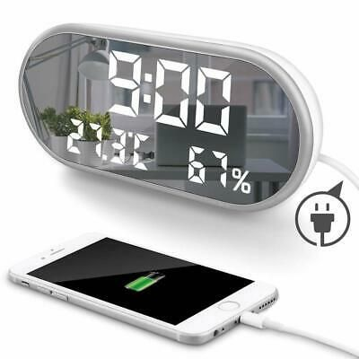 Details About Moonorn Led Digital Alarm Clock 6 5 Large Mirror