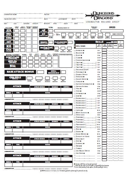 D D 3 5 Character Sheet Pdf Files Dungeons And Dragons Character Sheet Dnd Character Sheet Rpg Character Sheet