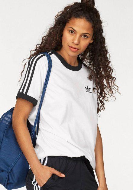 adidas Originals T Shirt »3 STRIPES TEE«, Rundhalsausschnitt