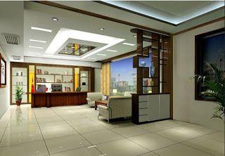 أحدث دیكورات جبس شقق و فلل Office Cabin Design Cabin Interior Design Small Cabin Interiors