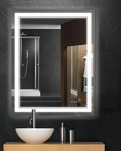 Keonjinn 36 X 28 Bathroom Mirror Horizontal Vertical Anti Fog Wall Mounted Makeup Mirror With Led Light Over Vanity Med