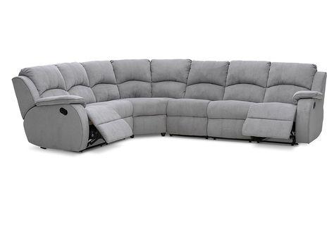Saloon Fabric Corner Lounge With Inbuilt Recliners Amart Furniture Lounge Lounge Sofa Recliner