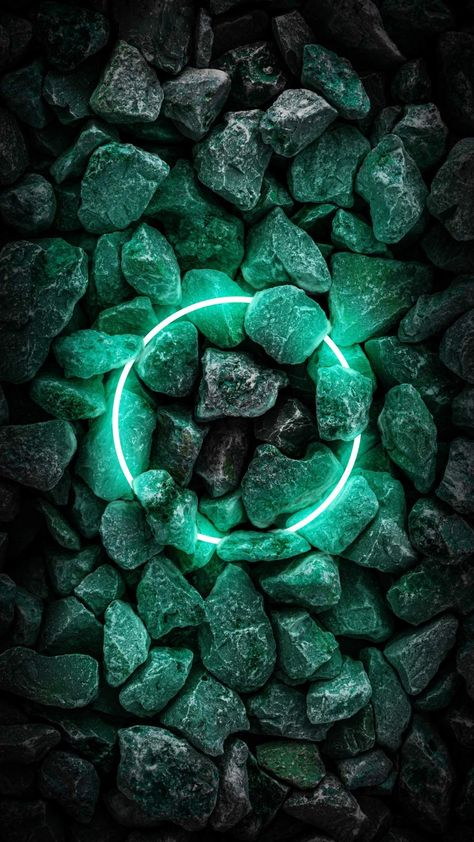 Neon Stone Ring - iPhone Wallpapers