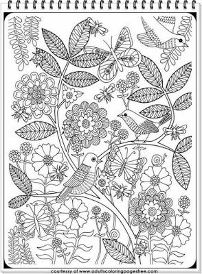 Bird Coloring Pages For Elderly Adults
