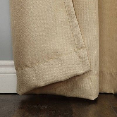 Montego Casual Textured Grommet Curtain Panel Taupe 48 X95 No 918 Panel Curtains Grommet Curtains Taupe