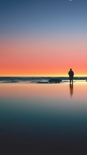 Loneliness Sea Beach Sunset Hd Mobile Wallpaper Sunset Wallpaper Beach Sunset Wallpaper Sunset