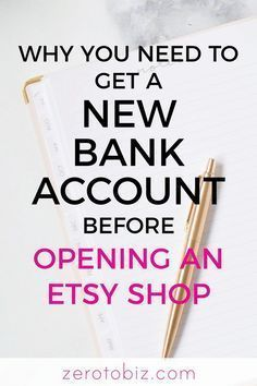 Why Your Etsy Shop Needs a Separate Bank Account - zero to biz