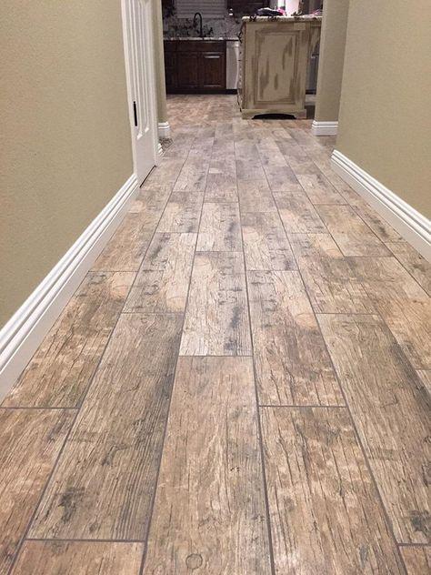 BuildDirect – Porcelain Tile - Redwood Series  – Natural - Hallway View