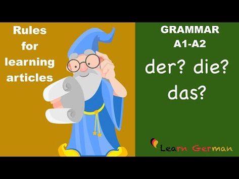 Learn German   German Grammar   Rules for articles   Hints on how to guess the german articles   A1