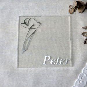 Acryl Untersetzer Tischkarte Flower Dezent Und Doch