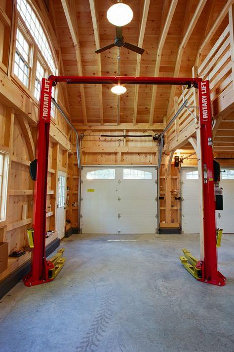 Garage Workshop Rent Leicester and Garage Workbench Depth. Garage Lift, Mechanic Garage, Garage Shed, Garage House Plans, Garage Workbench, Garage Workshop Plans, Pole Barn Shop, Pole Barn Garage, Pole Barn Homes
