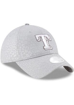 New Era Texas Rangers Womens Grey Leopard Flect Adjustable Hat Texas Rangers Mlb Texas Rangers Texas Rangers T Shirts