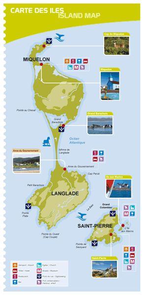 Best Les îles De St Pierre Miquelon Avec Régionellescom - Saint pierre and miquelon map