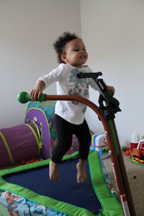 So excited and sooo cute! See The Denver Housewife review of the #iBounce Kids Trampoline