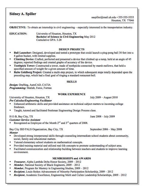 Resume Civil Engineering Houston TX -    resumesdesign - facility engineer sample resume