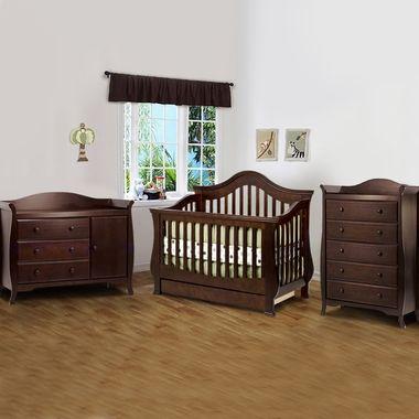 1356 Million Dollar Baby 3 Piece Nursery Set Ashbury 4 In 1 Sleigh Convertible Crib Combo Dresser And 5 Drawer Dresser Convertible Crib Cribs Nursery Set Baby crib and dresser combo