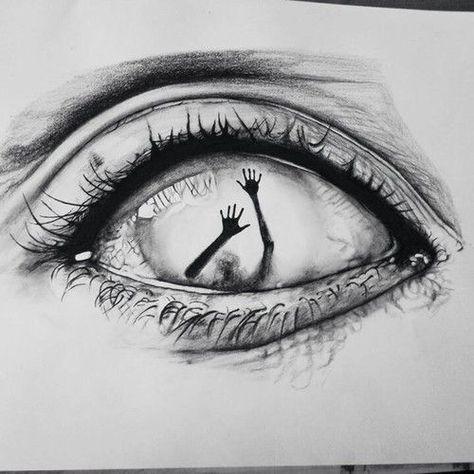 Auge Kunst und Zeichnungsbild #kunst #paintingartideas #zeichnungsbild