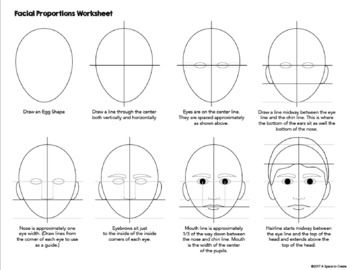 Facial Proportions Worksheets How To Draw The Human Face Facial Proportions Eye Drawing Proportions Worksheet