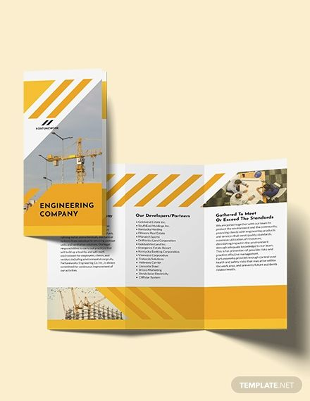 Professional Engineering Company Tri Fold Brochure Template Word Doc Psd Indesign Apple Mac Pages Illustrator Publisher Free Brochure Template Trifold Brochure Brochure Template