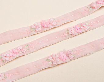 Vintage Ribbon Boutique By Vintagribbonboutique On Etsy Vintage Ribbon Hand Embroidered Velvet Ribbon