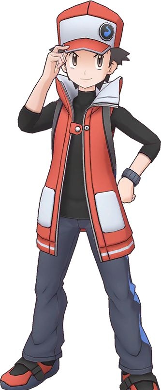 Red Trainer Listing For All Details And Pokemon Of The Sync Pair In Pokemon Masters Ex For Ios Android Pokemon Human Characters Pokemon Red Trainers