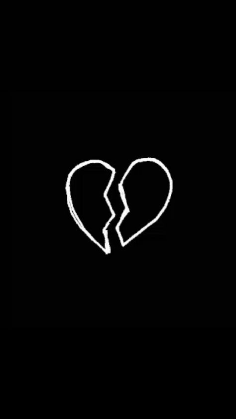обои на телефон черный экран с сердечком строился тот момент