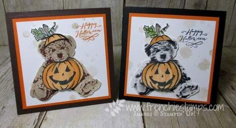 Stamp & Scrap with Frenchie: Halloween Baby Bear with Jar of Haunts