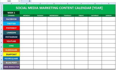 Social Media Content Calendar Template Excel Social media - steps for creating a grant calendar