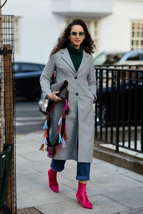 See the looks that caught our attention, and stay tuned for more of London Fashion Week& top street style moments.