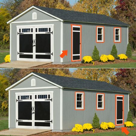 Braxton 12 X 24 Garage Shed Shed Design Diy Shed Plans Storage Shed Plans