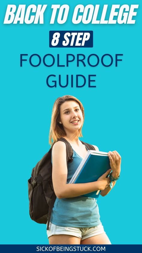 Our 8-Step Foolproof Guide will help you find some ideas for college and make easy one's back to college procedures in a trendy way.#college #collegetips #freshman #backtocollege Health Advice, Health And Wellness, Health Fitness, Going Back To College, Relaxation Techniques, College Hacks, Natural Cleaning Products, Freshman, About Me Blog