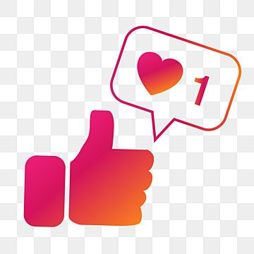 Instagram Color Style Like Thumb With Heart Bubble Thumbs Up Thumb Bubble Png And Vector With Transparent Background For Free Download En 2021 Burbuja Instagram Corazones